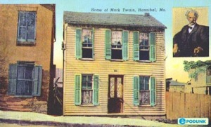 An old postcard of Twain's Home